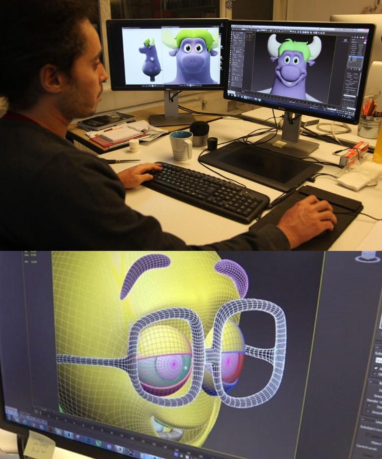 Design-Entwurf-Maskottchen-Kostuem