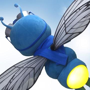 Fliege-Kostuem-Maskottchen-Produktion-Licht