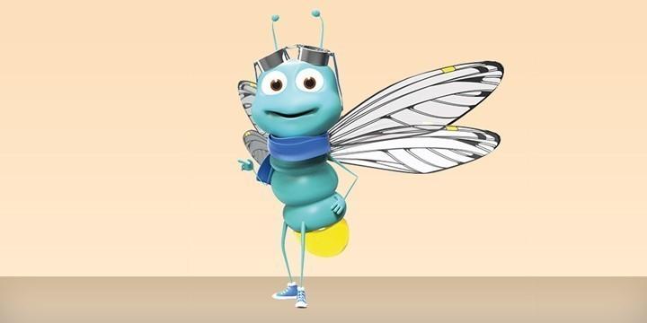 Fliege-Kostuem-Maskottchen-Produktion