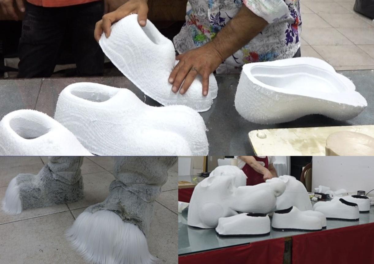 Produktion-Maskottchen-Professionell-Schuhe