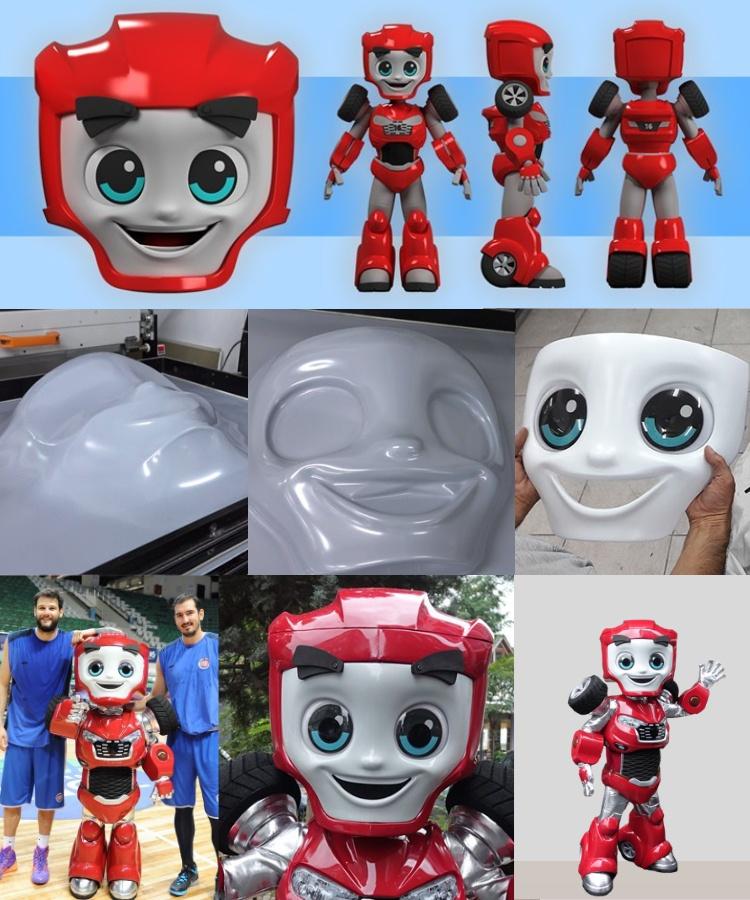 Produktion-Roboter-Kostuem-Maskottchen