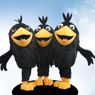 Raben-Kostuem-Maskottchen-Figuren