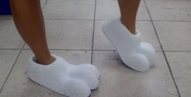 Schuhe-Maskottchen-Kostuem